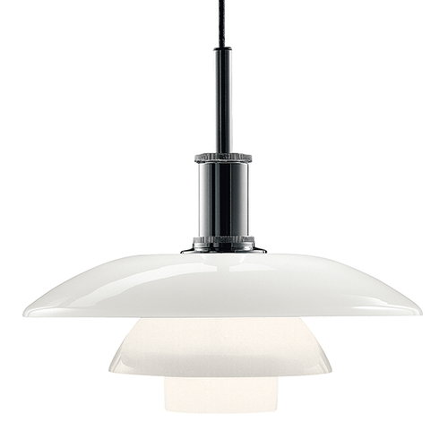 Louis Poulsen PH 4 1/2-4 pendant, lustre chrome plated, opal glass