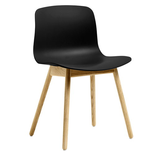 Hay About A Chair AAC12, black - lacquered oak