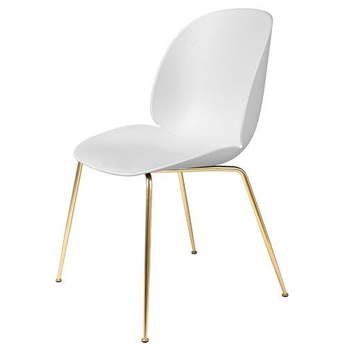 Gubi Beetle tuoli, messinki / valkoinen
