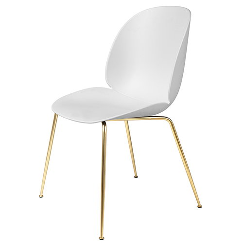 Gubi Beetle chair, brass / white