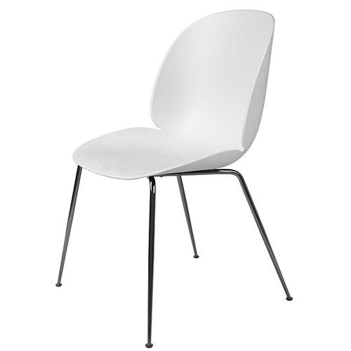 Gubi Beetle tuoli, musta kromi / valkoinen