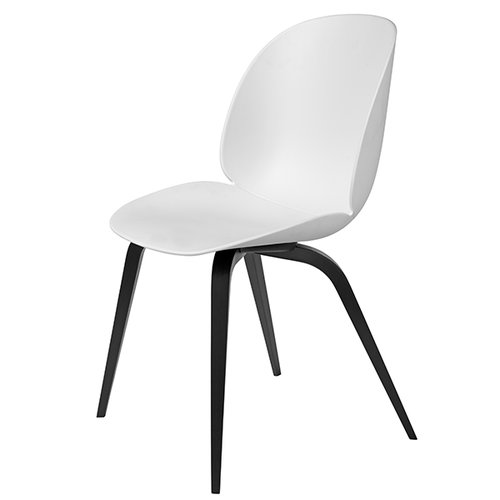 Gubi Beetle chair, black beech / white