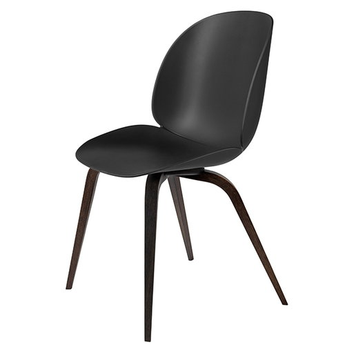 Gubi Beetle chair, smoked oak / black