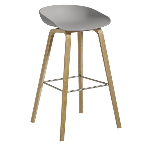 Hay About A Stool AAS32, grey - soaped oak, 75 cm