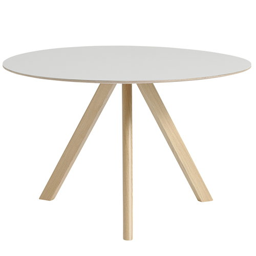 Hay Copenhague CPH20 round table 120 cm, matt lacq. oak - white lino