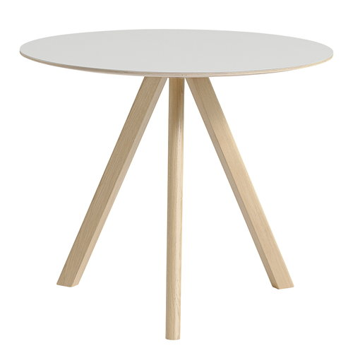Hay CPH20 round table 90 cm, matt lacquered oak - off white