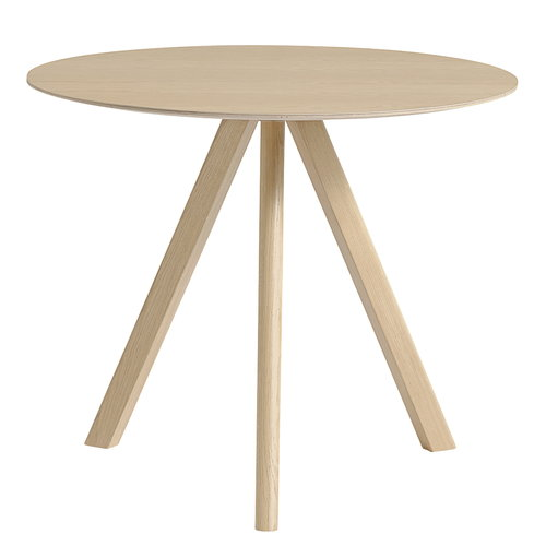 Hay Copenhague CPH20 round table 90 cm, matt lacquered oak