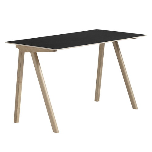 Hay CPH90 desk, soaped oak - black