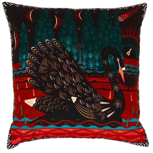 Klaus Haapaniemi Black Swan cushion cover, velvet