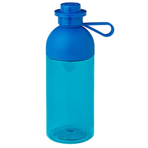 Room Copenhagen Lego drinking bottle, transparent, blue