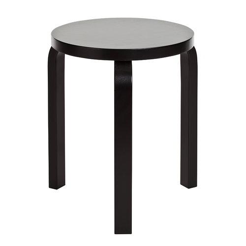 Artek Sgabello Aalto 60, nero laccato