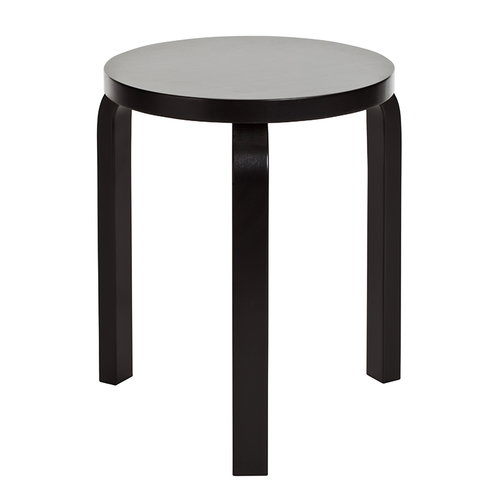 Artek Aalto stool 60, lacquered black