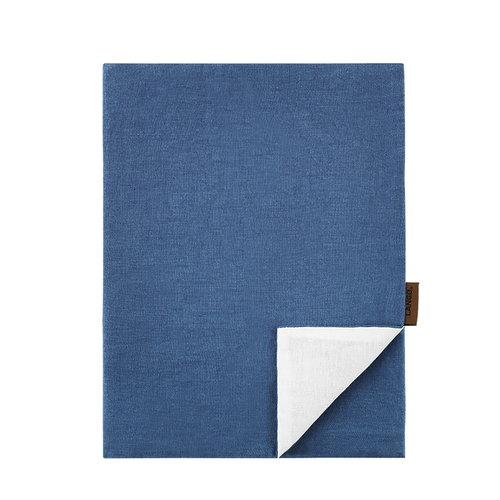 Lang� Pillowcase, linen, denim-white