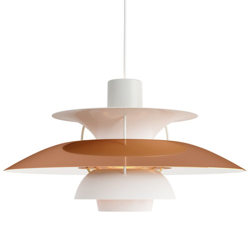 Louis Poulsen PH 5 pendant, copper - white
