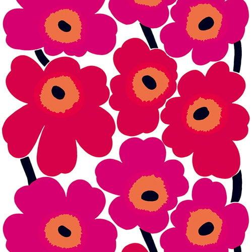 Marimekko Unikko fabric, red