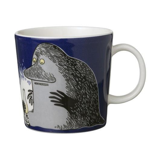 Arabia Moomin mug Groke, dark blue