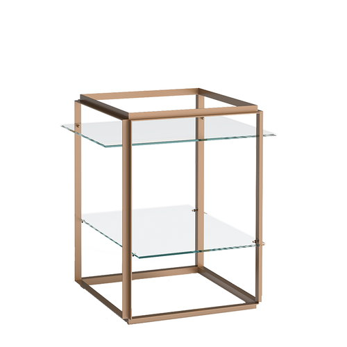 New Works Florence side table, gold - clear glass