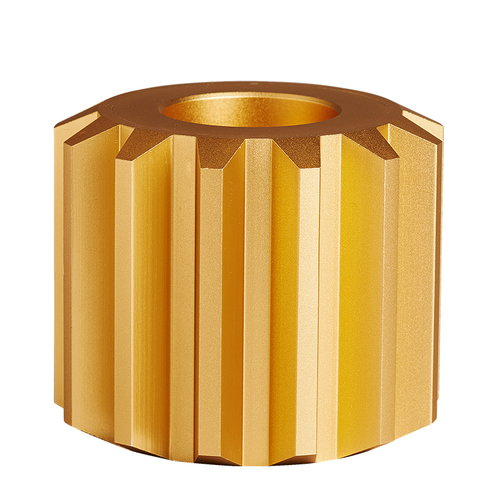 New Works Gear candleholder, gold, wide