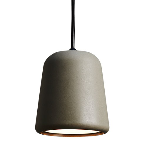 New Works Material pendant, dark grey concrete