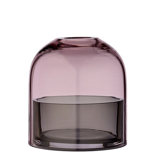 AYTM Tota tealight lantern, rose/black