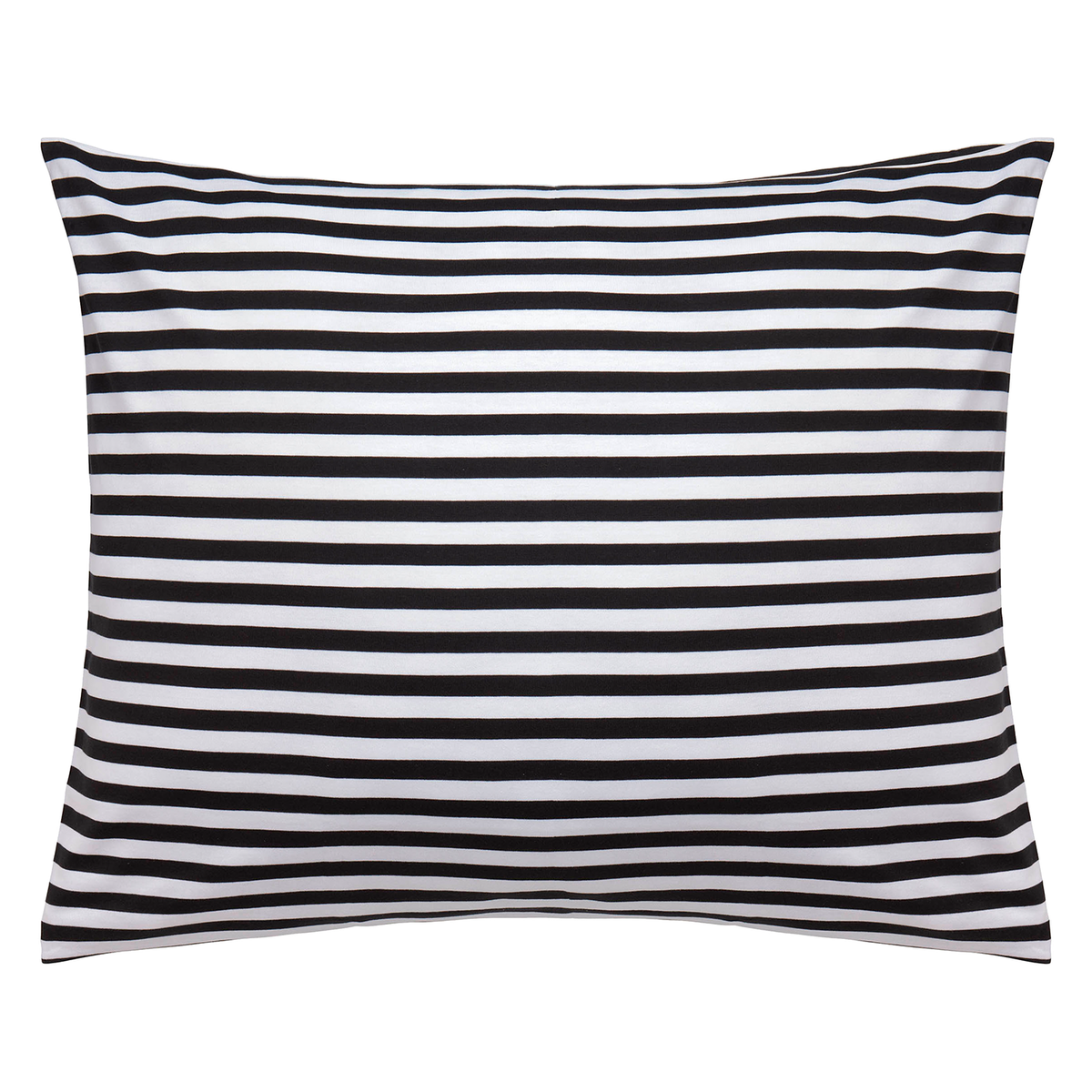 Marimekko Tasaraita Pillowcase, Black - White