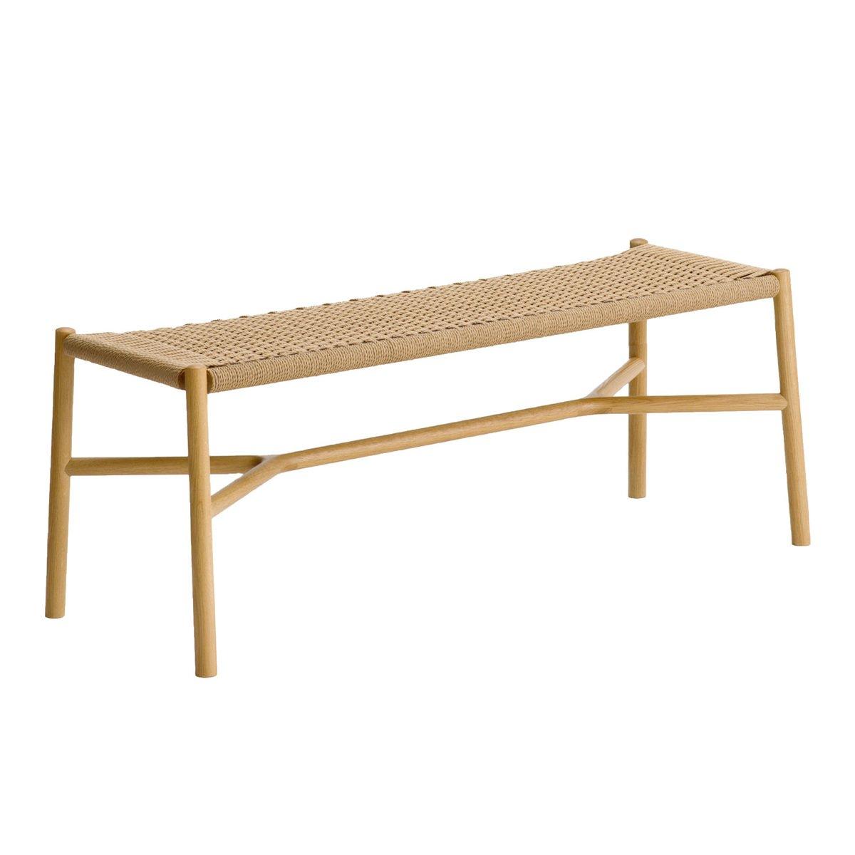 Strange Ariake Ariake Bench Oak Paper Cord Finnish Design Shop Inzonedesignstudio Interior Chair Design Inzonedesignstudiocom