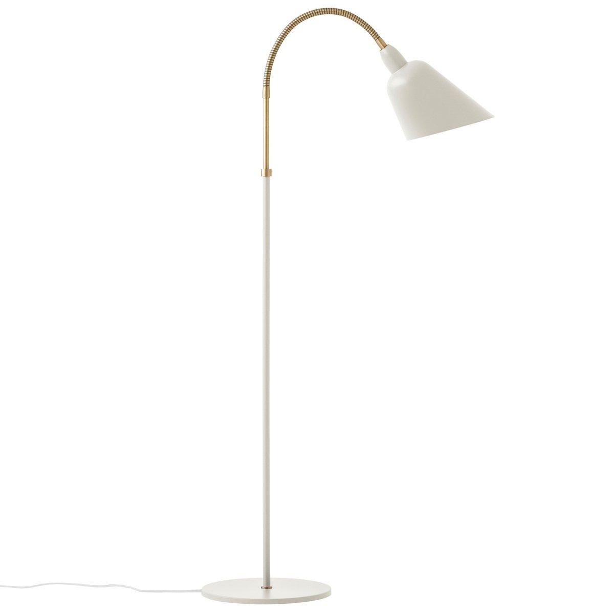 &Tradition Bellevue Aj7 Floor Lamp, White - Brass