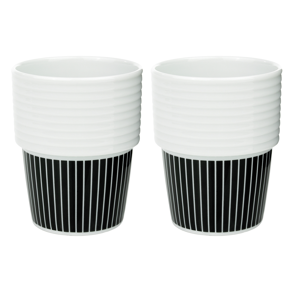 rörstrand filippa k coffee mug 0,31 l, 2 pcs, pinstripes