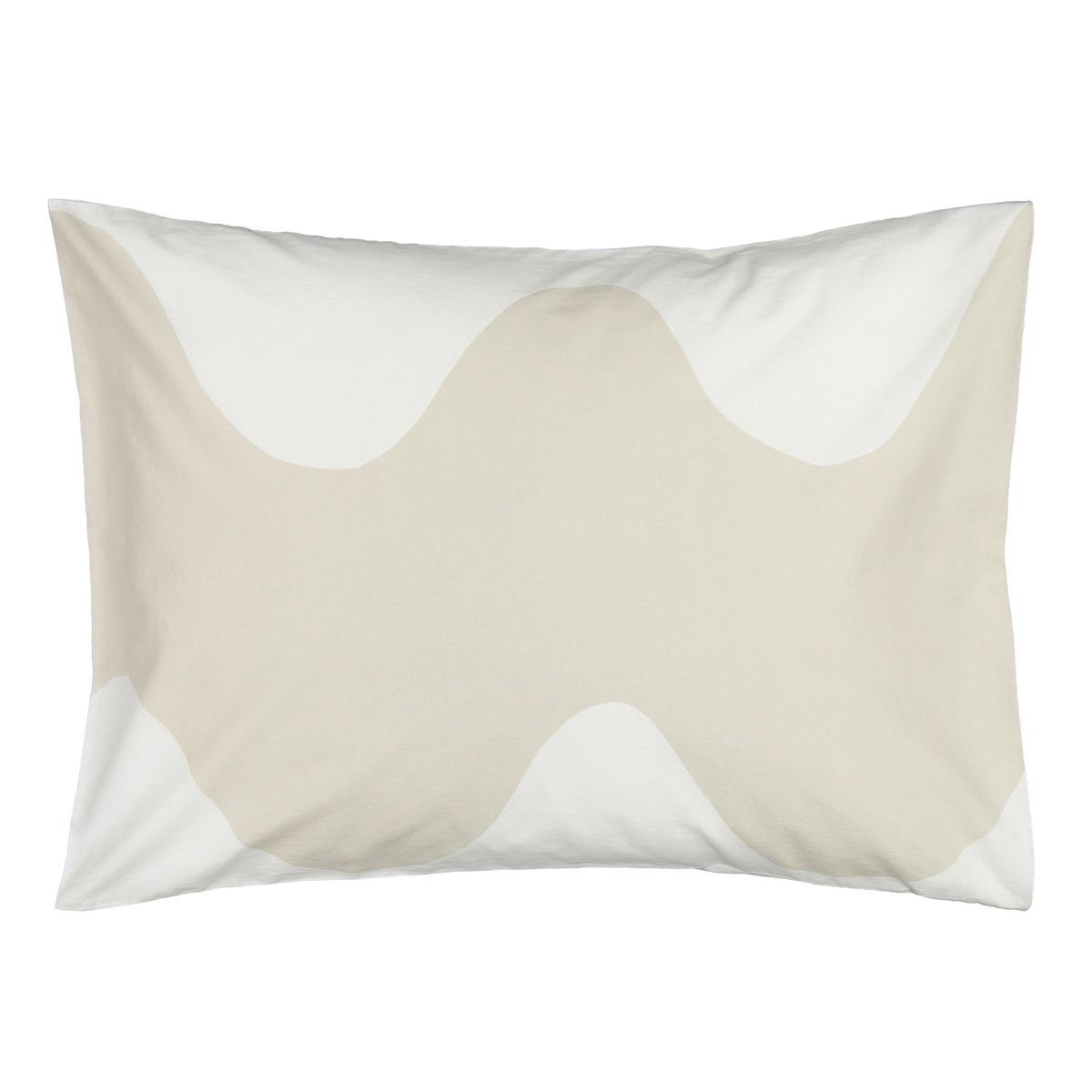 Marimekko Lokki Pillowcase 50 X 60 Cm, White - Beige