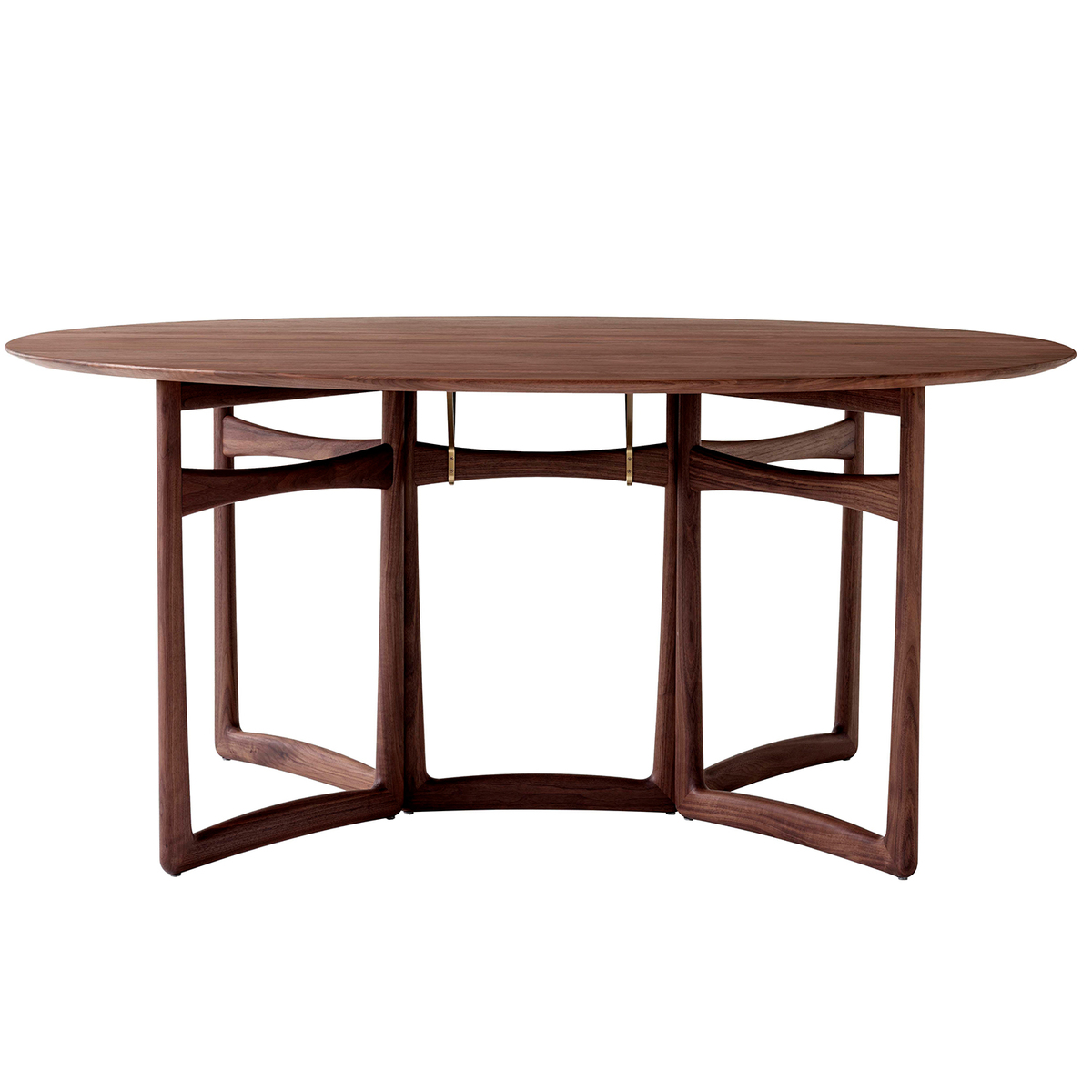 Image of: Tradition Drop Leaf Hm6 Dining Table Oiled Walnut Finnish Design Shop