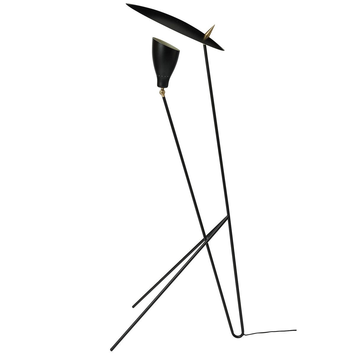 Warm Nordic Silhouette Floor Lamp, Black