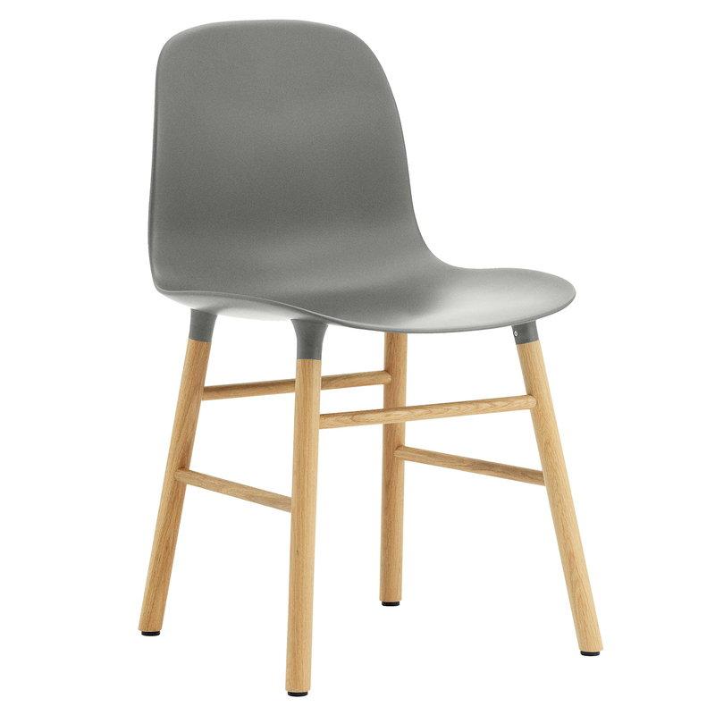 Normann Copenhagen Form tuoli, harmaa - tammi