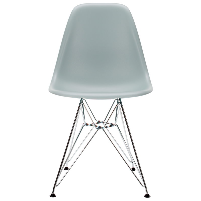 Vitra Eames DSR chair, light grey - chrome