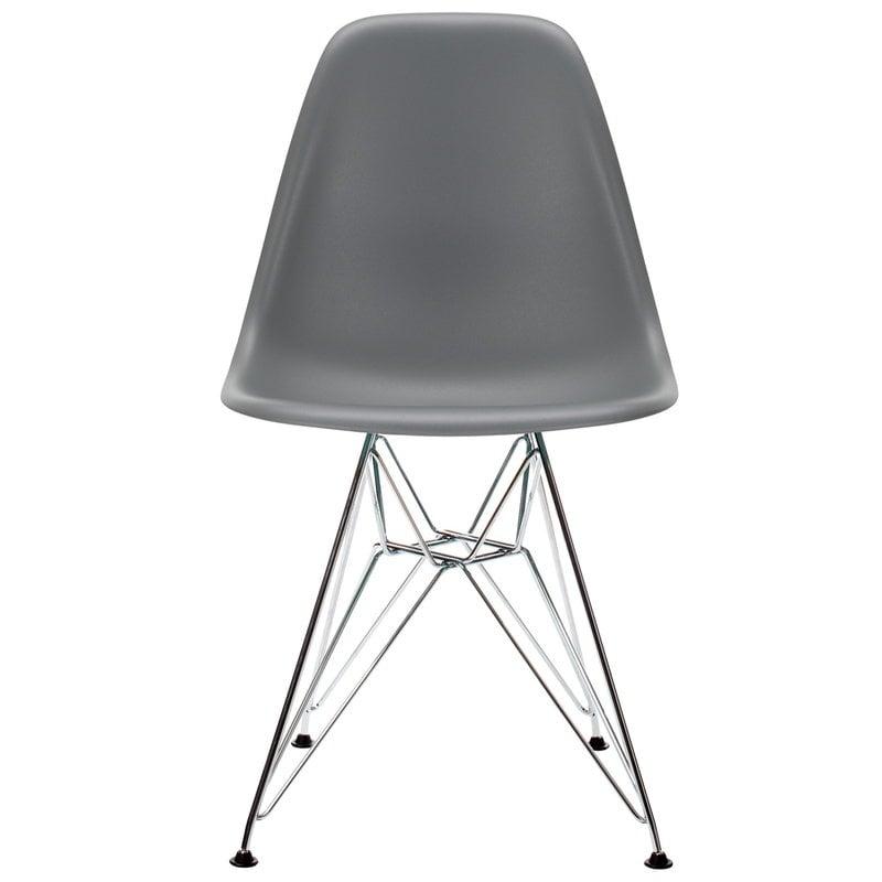 Vitra Eames DSR tuoli, granite grey - kromi