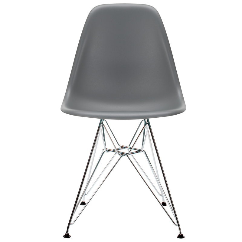 Vitra Eames DSR chair, granite grey - chrome