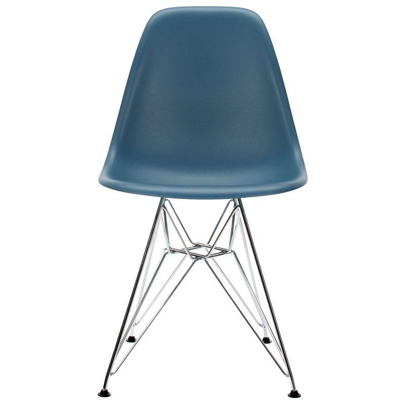 Vitra Eames DSR chair, sea blue - chrome