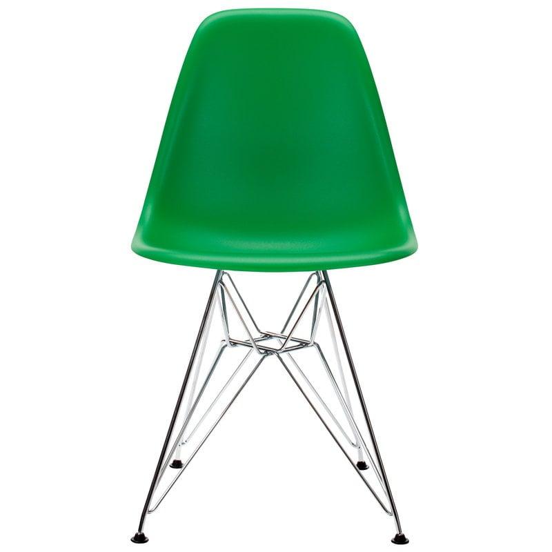 Vitra Eames DSR chair, green - chrome
