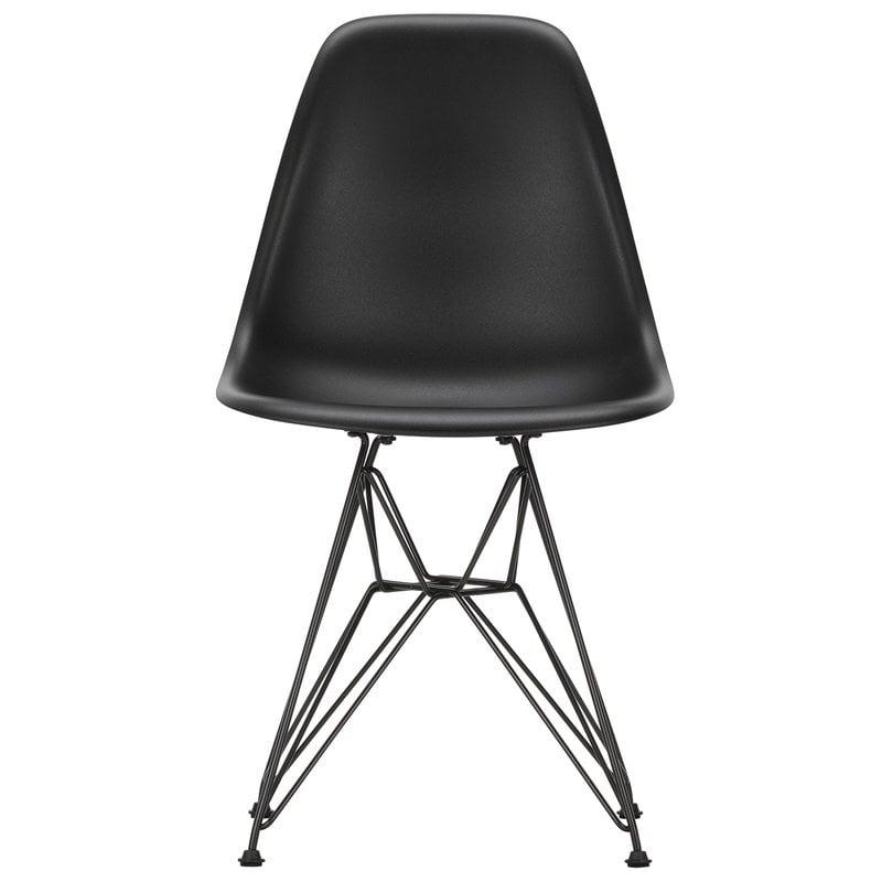 Vitra Eames DSR chair, deep black - basic dark