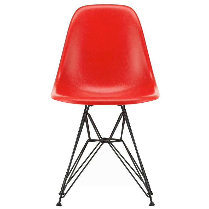 Vitra Eames DSR Fiberglass tuoli, classic red - basic dark