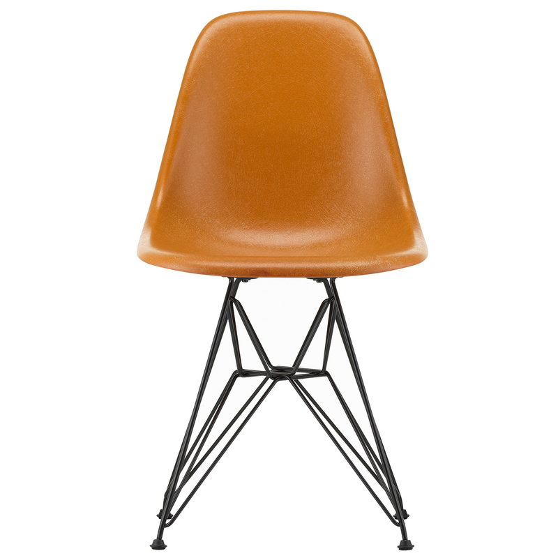Vitra Eames DSR Fiberglass chair, dark ochre - basic dark