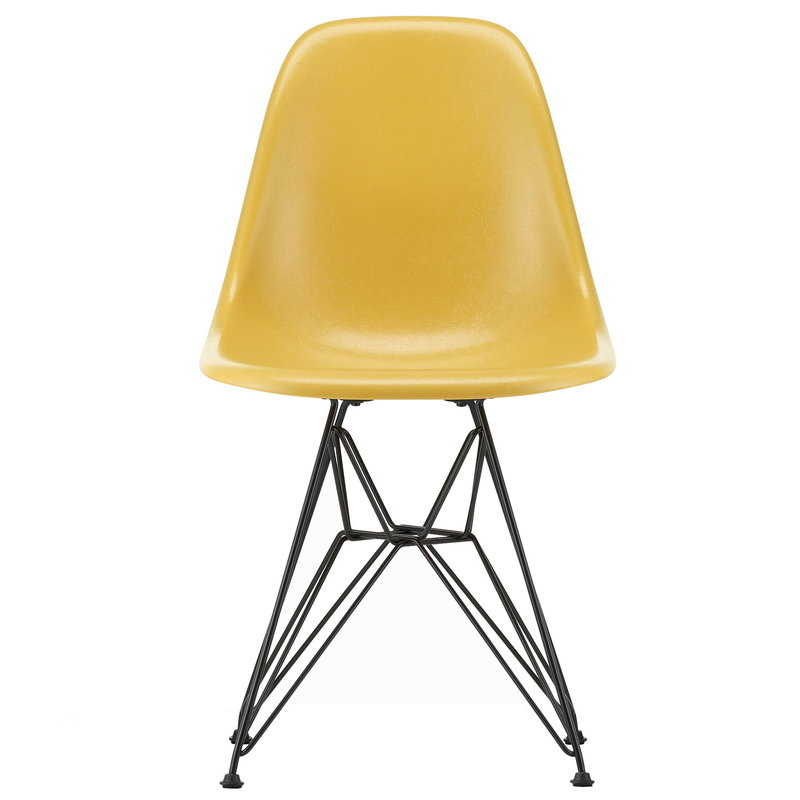 Vitra Eames DSR Fiberglass chair, light ochre - basic dark