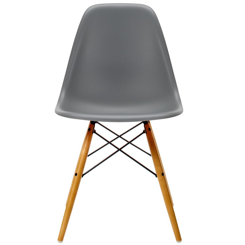 Vitra Eames DSW chair, granite grey - maple
