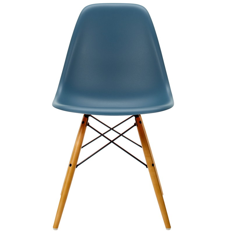 Vitra Eames DSW chair, sea blue - maple