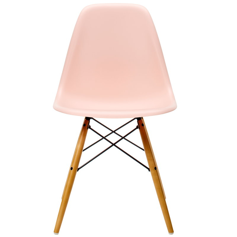 Vitra Eames DSW chair, pale rose - maple