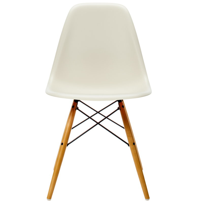 Vitra Eames DSW chair, pebble - maple