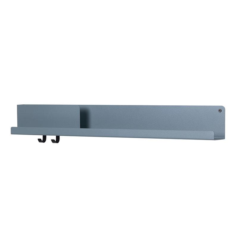 Muuto Folded shelf, blue grey, large