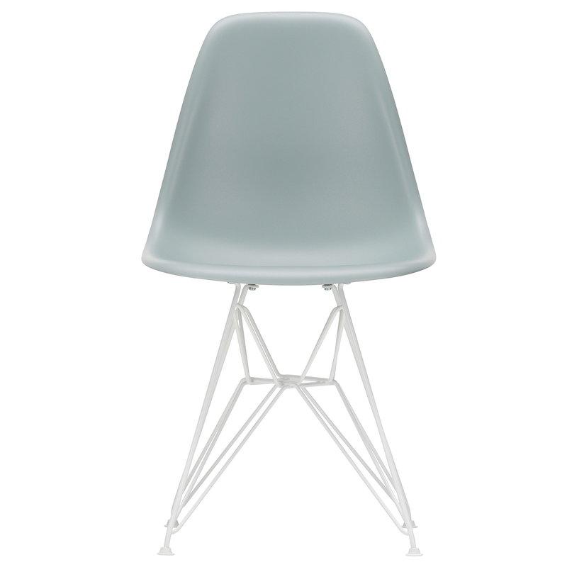 Vitra Eames DSR chair, light grey - white