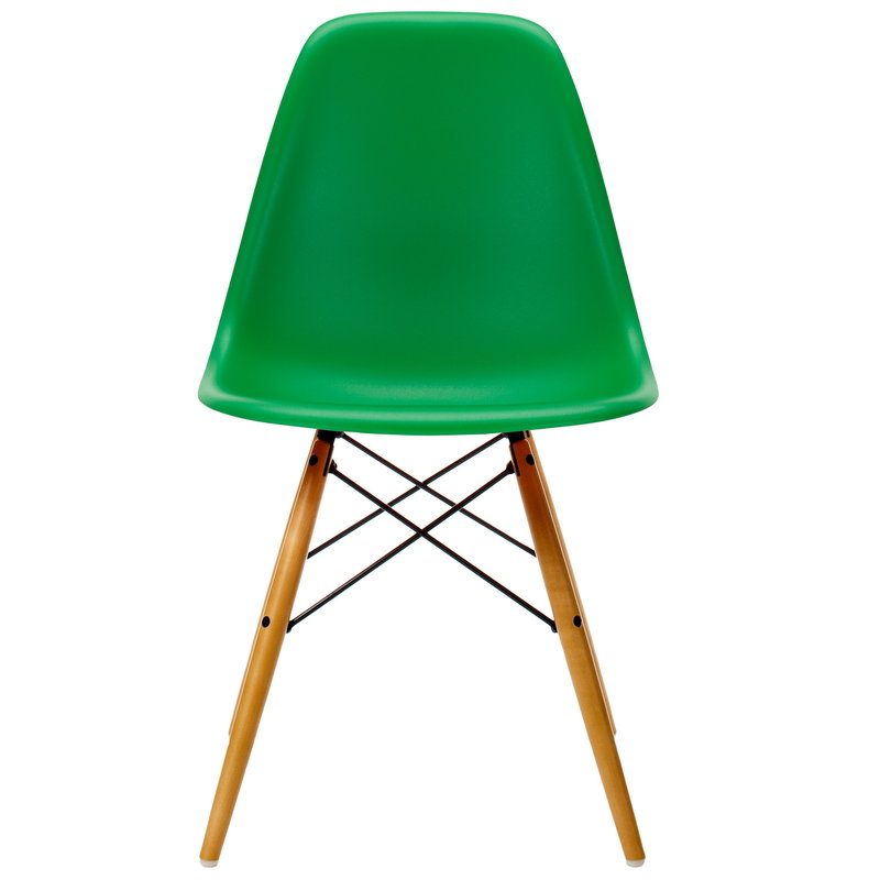 Vitra Eames DSW chair, green - maple
