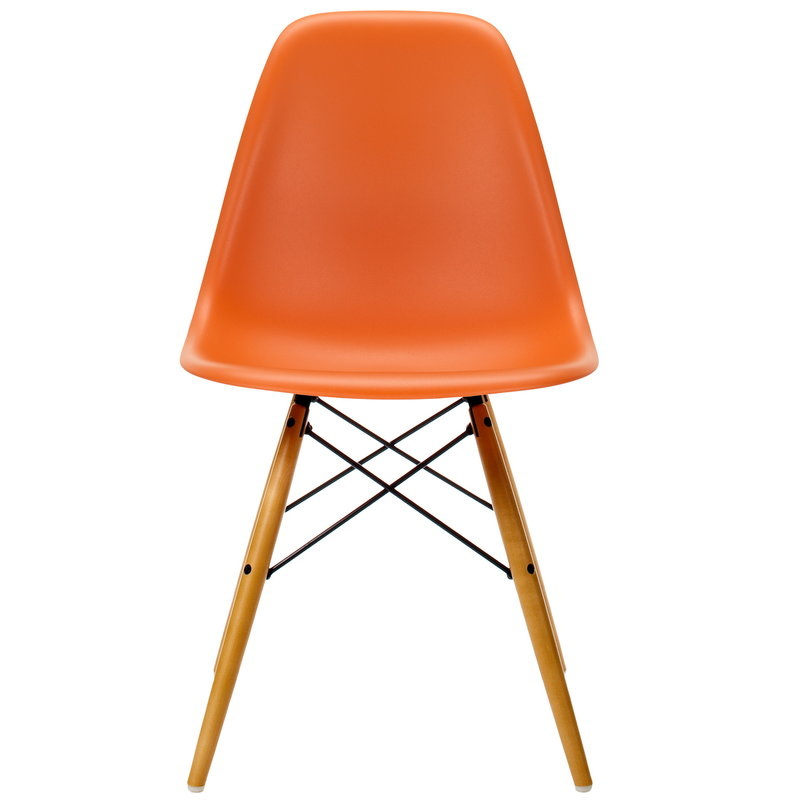 Vitra Eames DSW chair, rusty orange - maple