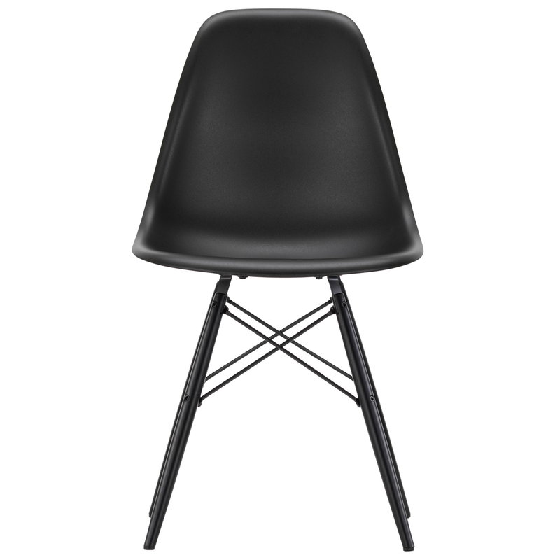 Vitra Eames DSW chair, deep black - black maple